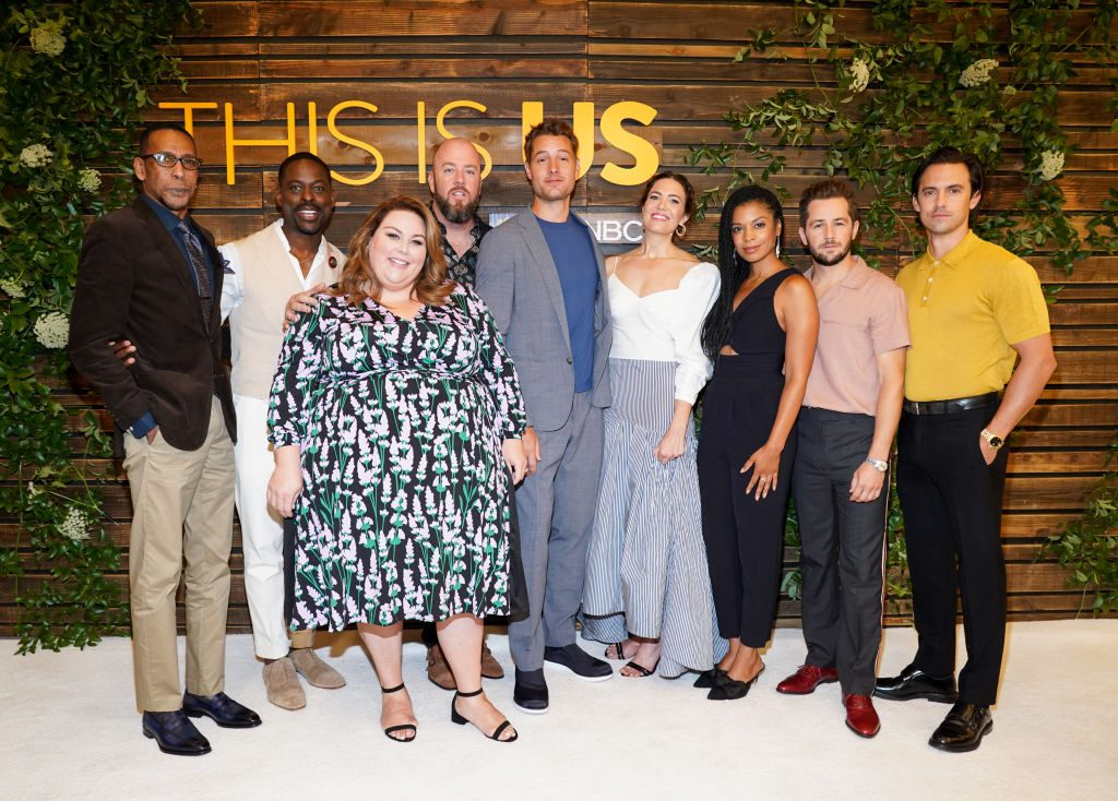 "Ron Cephas Jones, Sterling K. Brown, Chrissy Metz, Chris Sullivan, Justin Hartley, Mandy Moore, Susan Kelechi Watson, Michael Angarano, and Milo Ventimiglia attend NBC's ""This Is Us"" Pancakes with the Pearsons"
