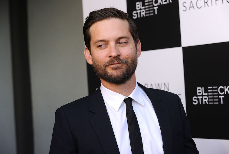Tobey Maguire on the red carpet