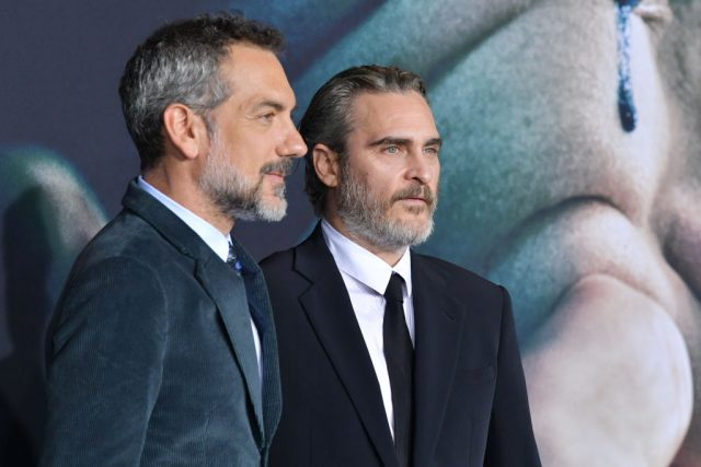 Todd Phillips and Joaquin Phoenix at the 'Joker' premiere