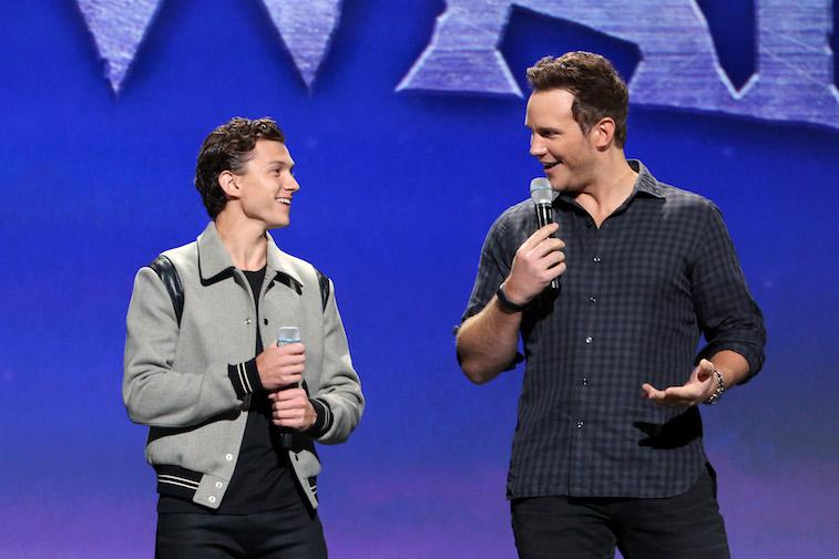 Tom Holland and Chris Pratt together onstage