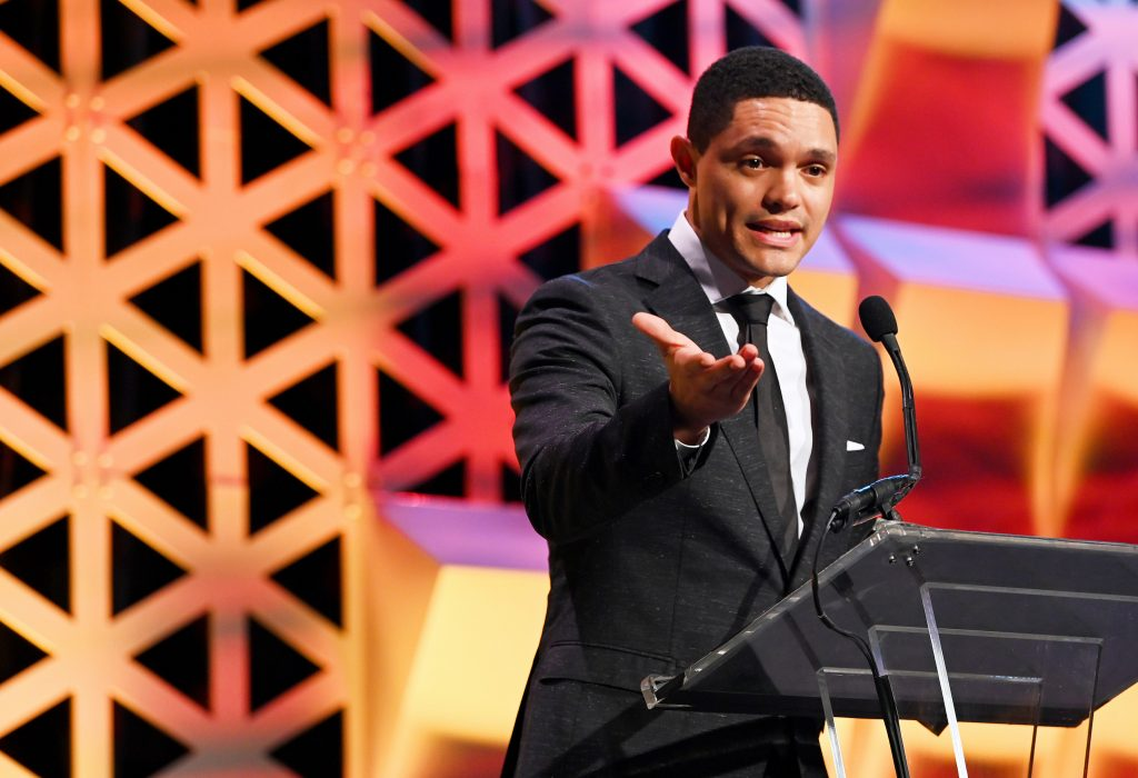Trevor Noah speaks onstage during Pencils Of Promise 2019 Gala: An Evolution Within