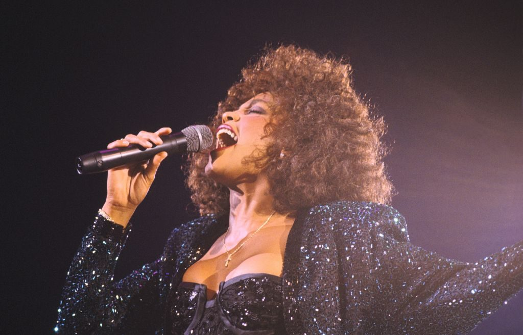 Whitney Houston Performs In Paris Bercy On May 18th, 1988 In Paris, France | Frederic Reglain/Gamma-Rapho via Getty Images
