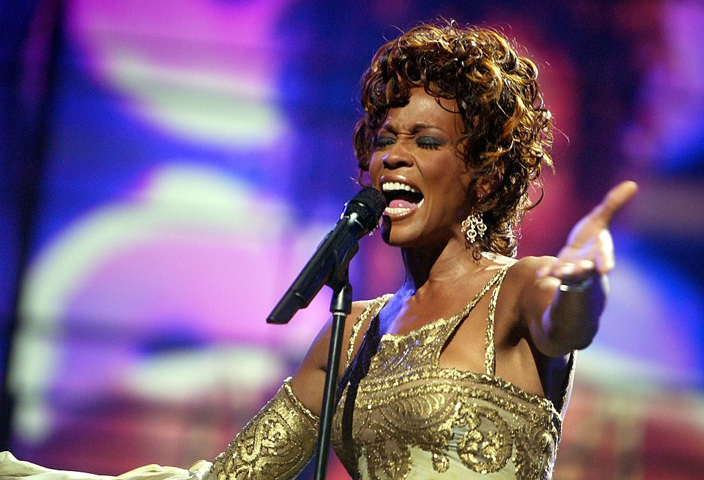 Whitney Houston is seen performing on stage during the 2004 World Music Awards.