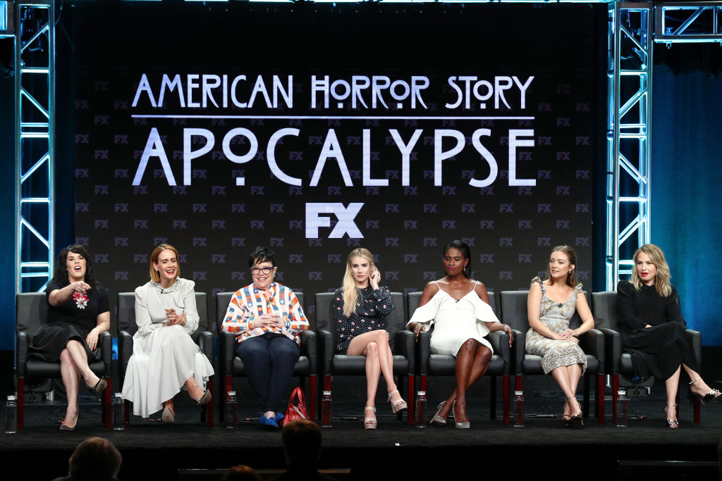 The cast of 'America Horror Story: Apocalypse' speak on a panel at the FX Network portion of the Summer 2018 TCA Press Tour.
