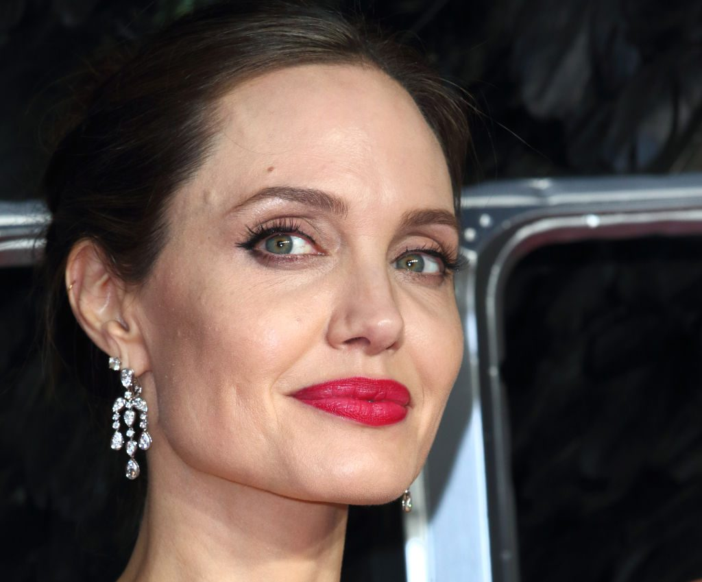 Angelina Jolie attends the Maleficent: Mistress of Evil European Film Premiere.
