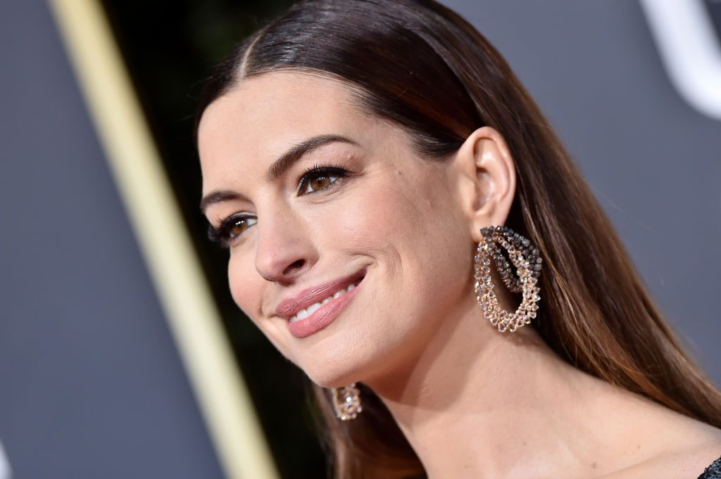 Anne Hathaway attends the 76th Annual Golden Globe Awards.