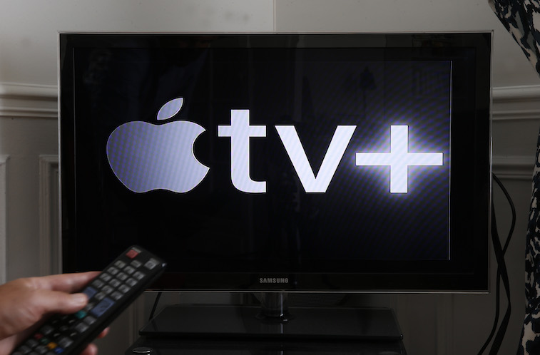Apple TV+ logo on a TV screen