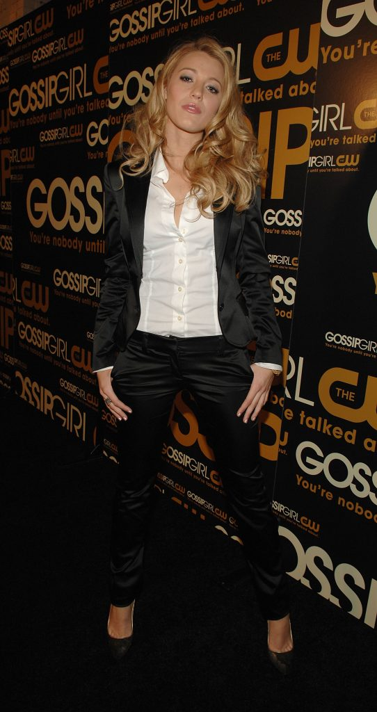 Blake Lively arrives at the Gossip Girl premiere party