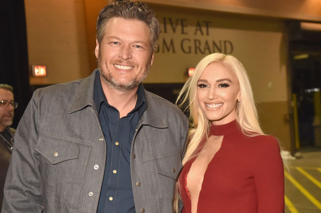 Blake Shelton and Gwen Stefani at the 53rd Academy Of Country Music Awards.