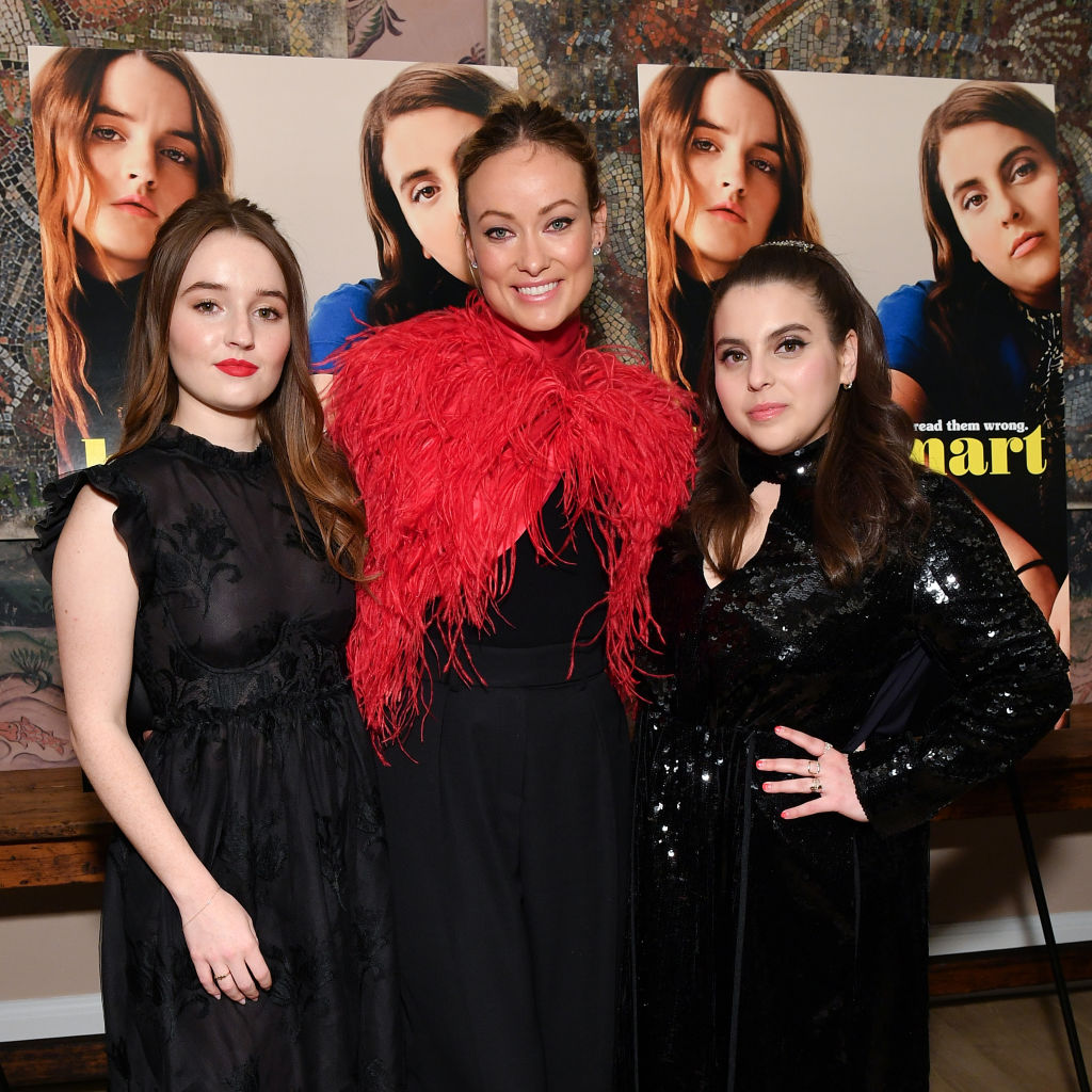 'Booksmart' director Olivia Wilde with stars Kaitlyn Dever and Beanie Feldstein at a screening of their movie.