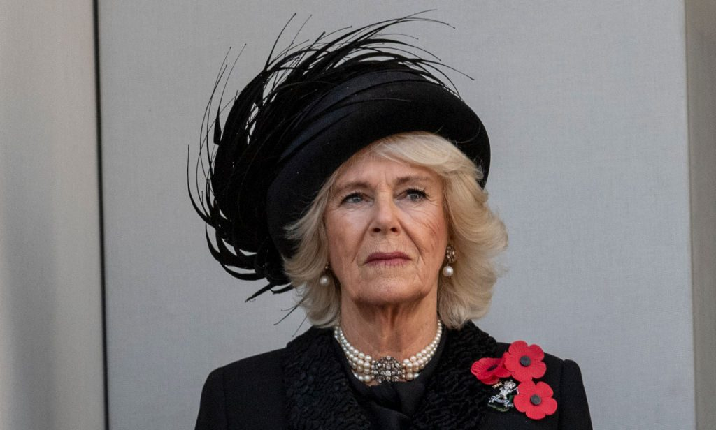 Camilla Parker Bowles attends the annual Remembrance Sunday memorial.