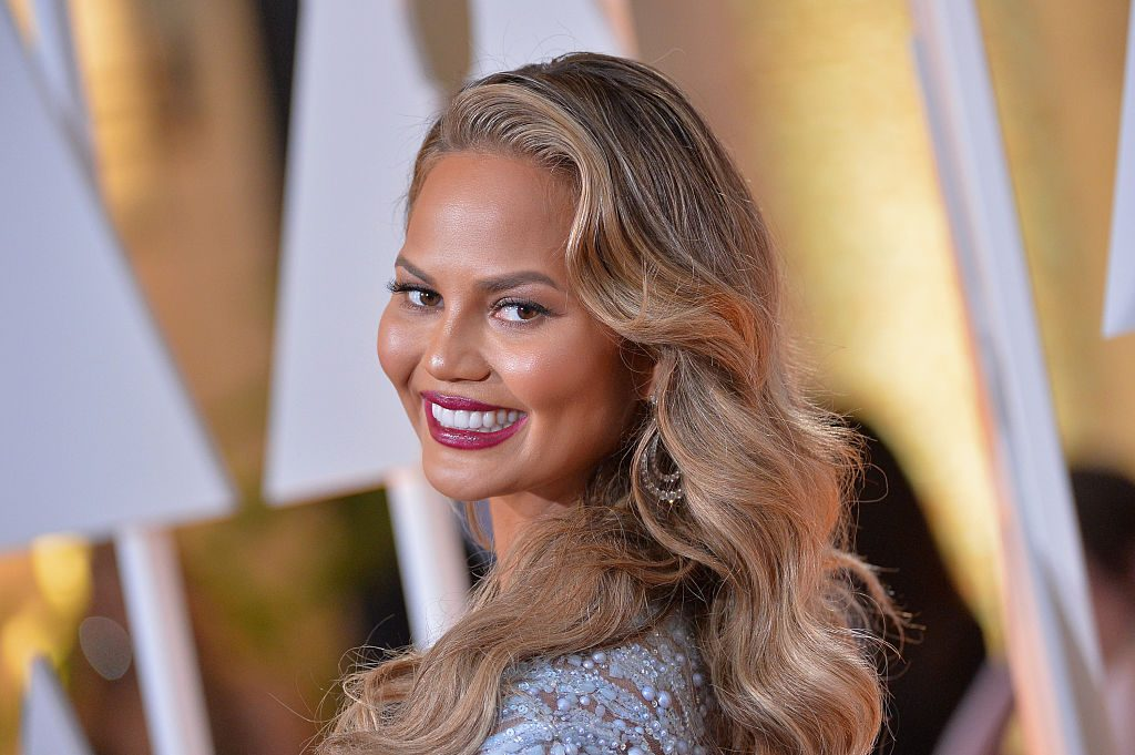 Chrissy Teigen at the 87th Annual Academy Awards.