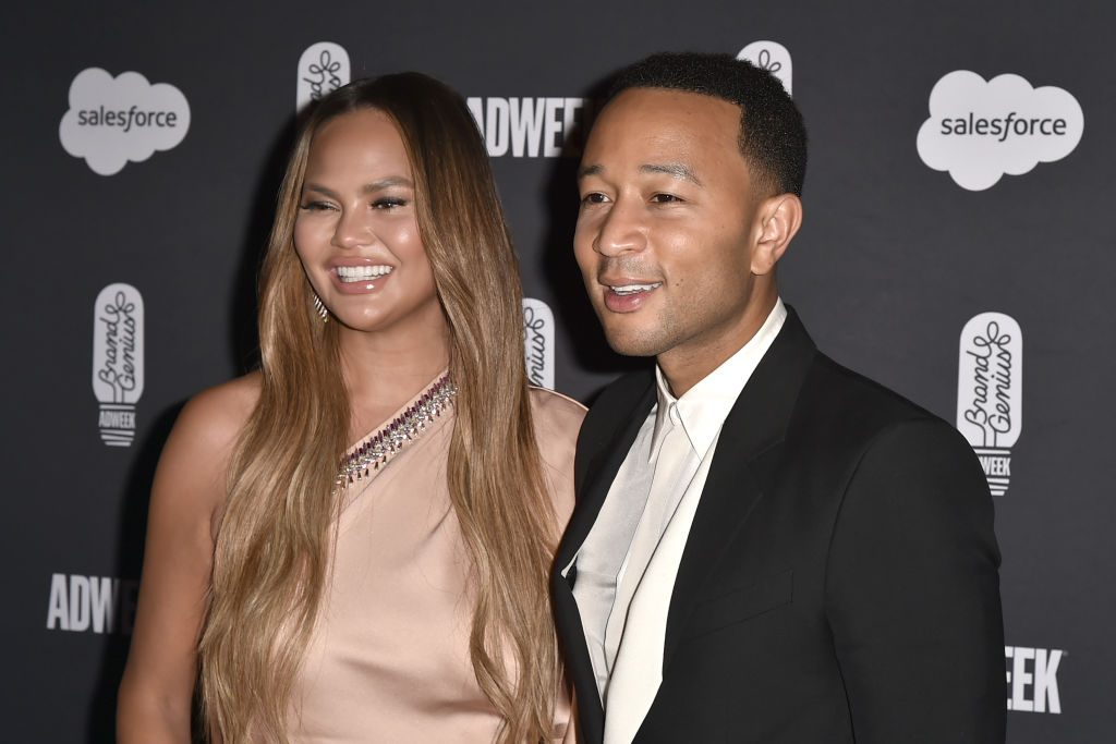 Chrissy Teigen and John Legend at the 2019 Brandweek Brand Genius Awards Gala.