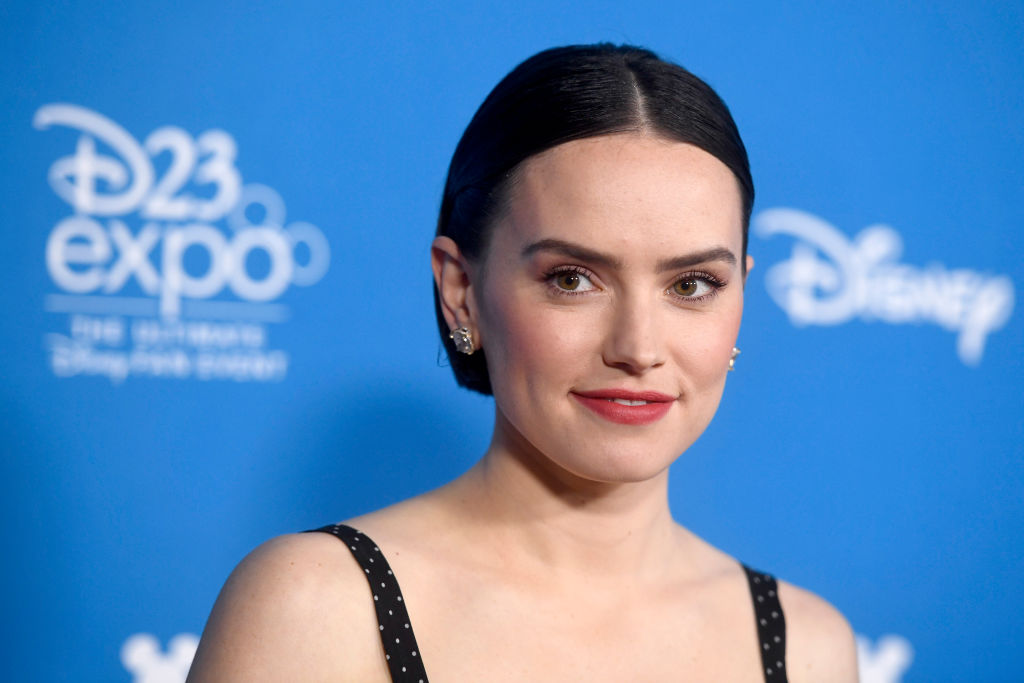 Daisy Ridley on the red carpet at the D23 Expo, 2019.