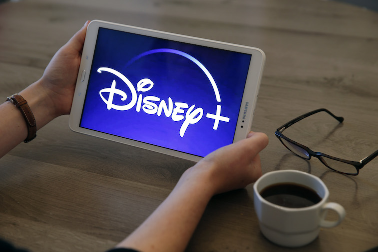 Disney+ logo on a tablet