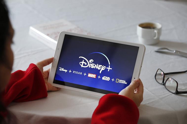 Disney+ app on a tablet