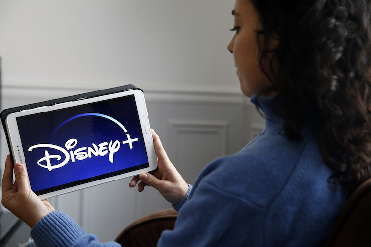 Disney+ app shown on a tablet