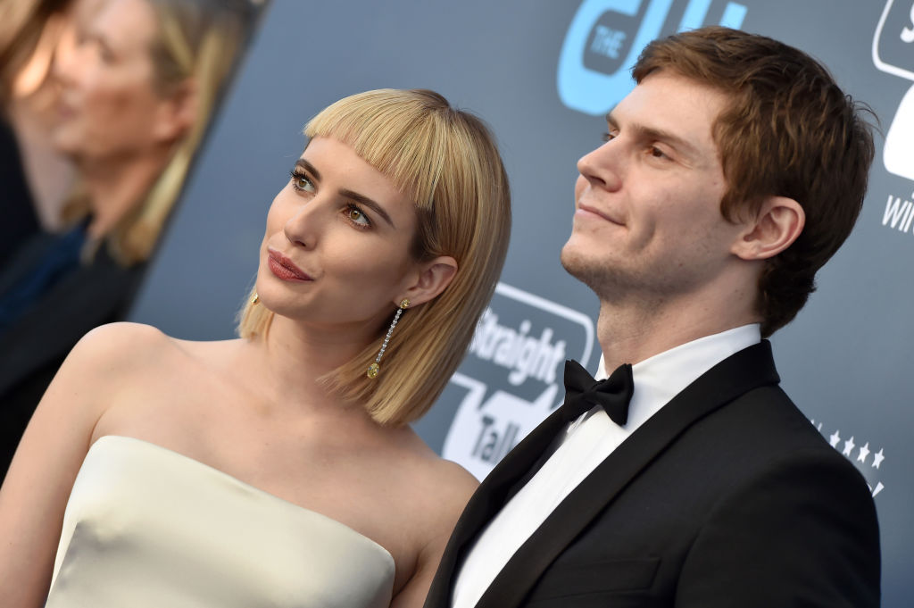 Emma Roberts and Evan Peters in 2018