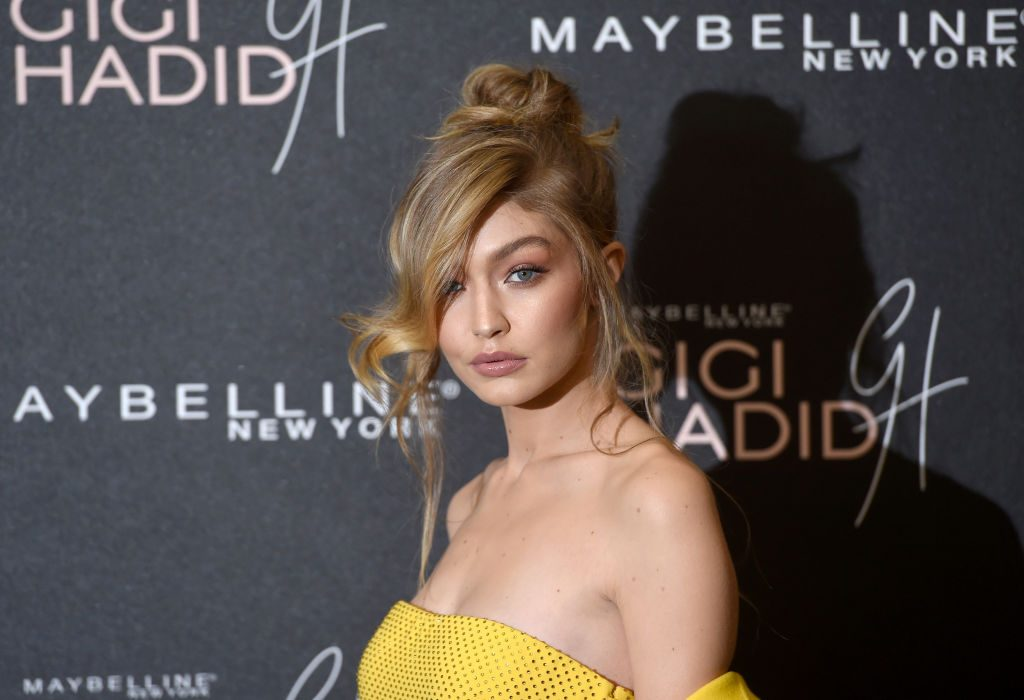 Gigi Hadid attends the Gigi Hadid X Maybelline party.