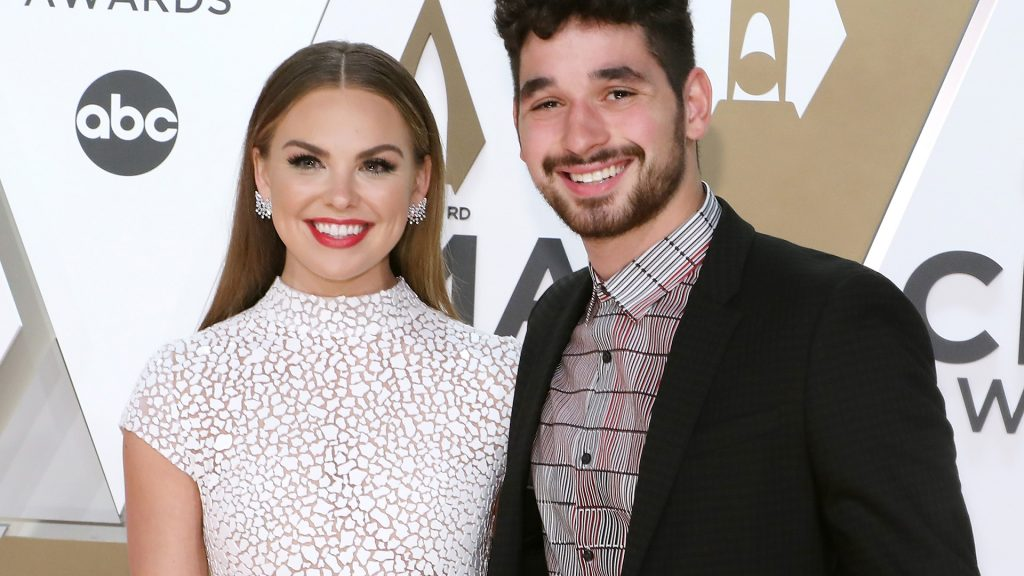 Hannah Brown and Alan Bersten attend the 53nd annual CMA Awards