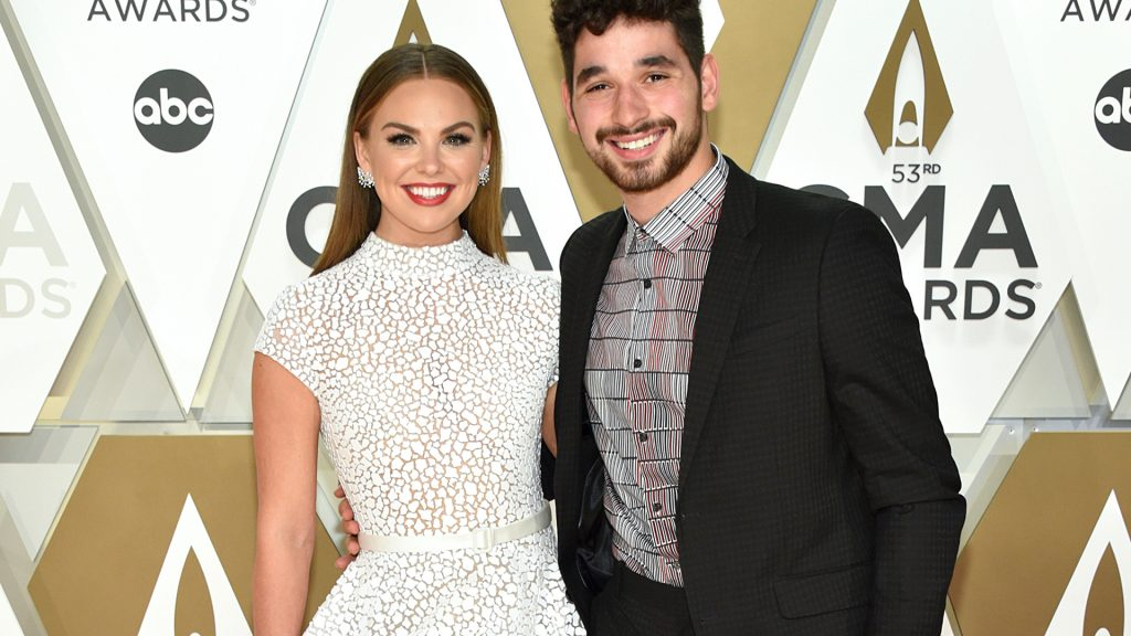 Hannah Brown(L) and Alan Bersten attend the 53rd annual CMA Awards