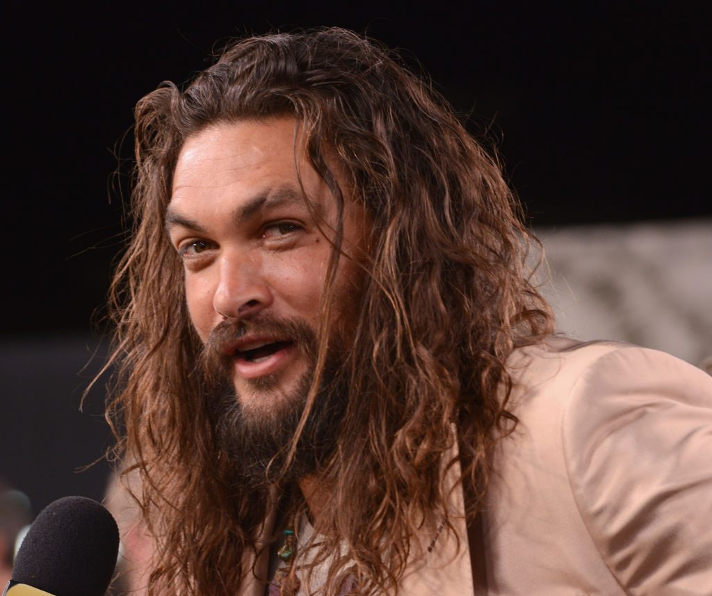 """Jason Momoa arrives for the World Premiere Of Apple TV+'s """"See"""" held at Fox Village Theater."""