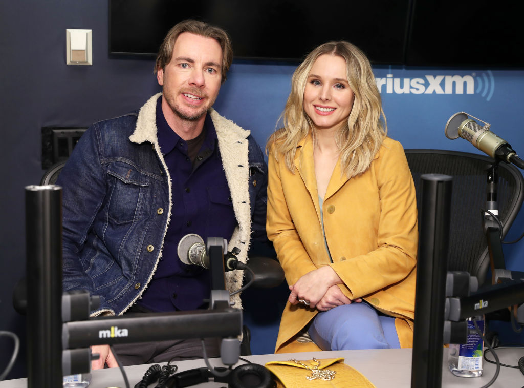 Dax Shepard and Kristen Bell at the SiriusXM Studios.
