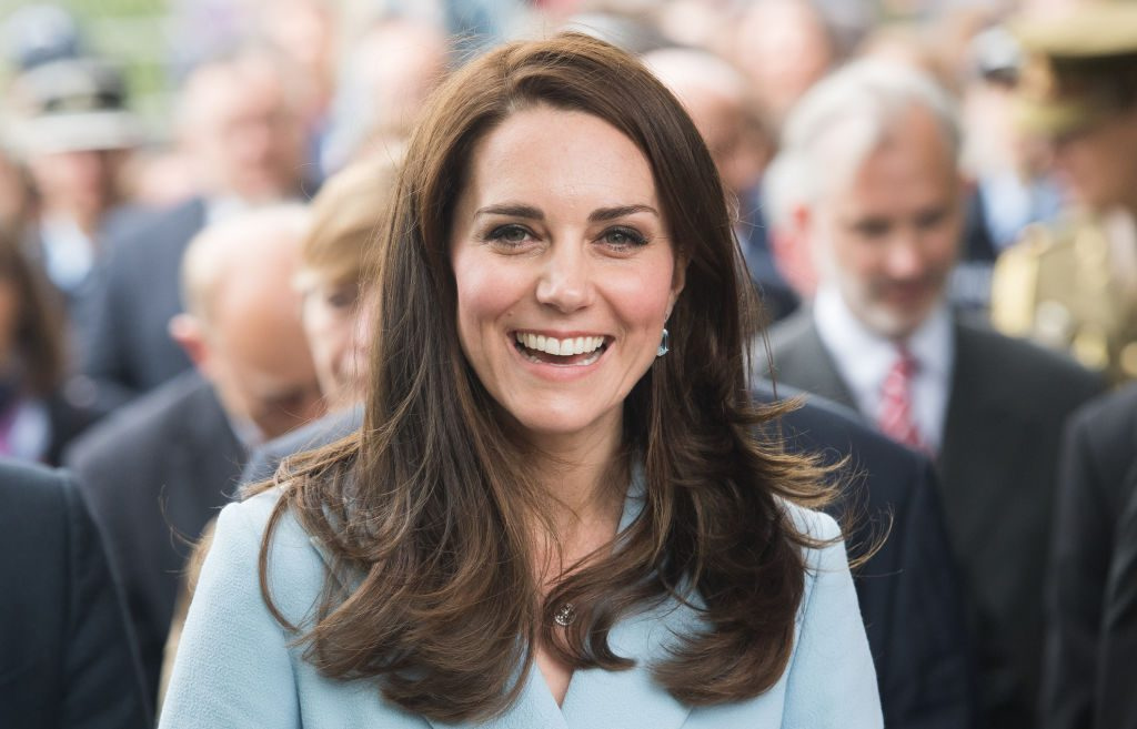 Kate Middleton outside the City Museum along the Corniche to view the capital during a one day visit on May 11, 2017 in Luxembourg.