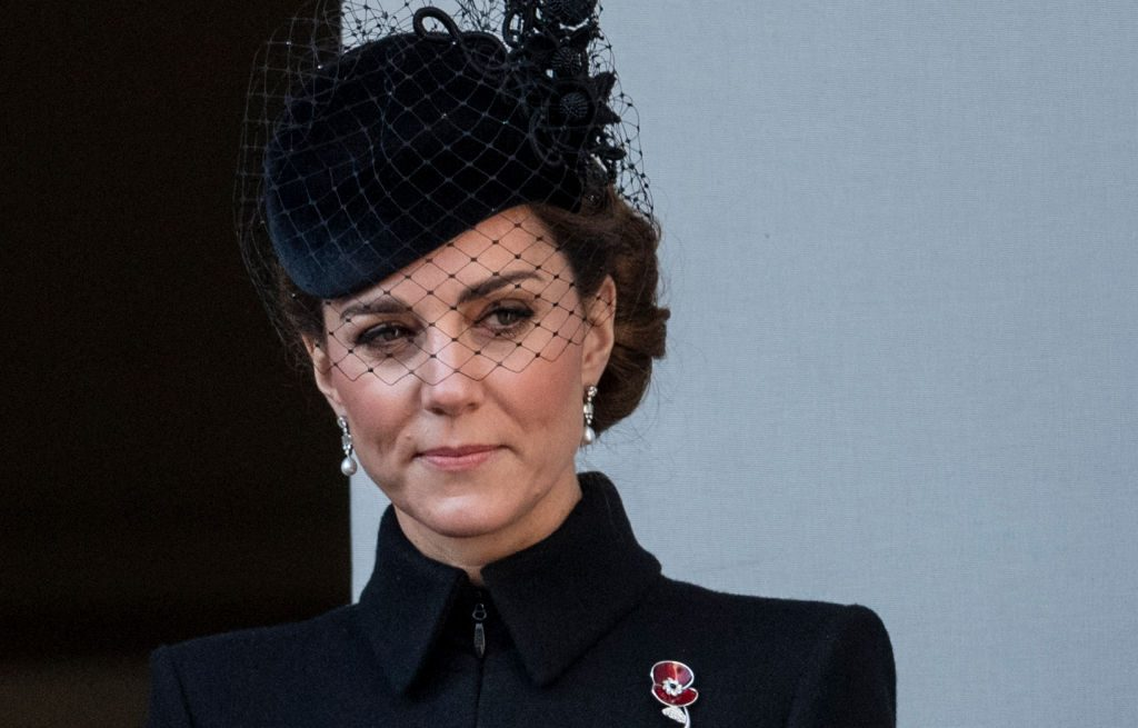 Kate Middleton attends the annual Remembrance Sunday memorial.