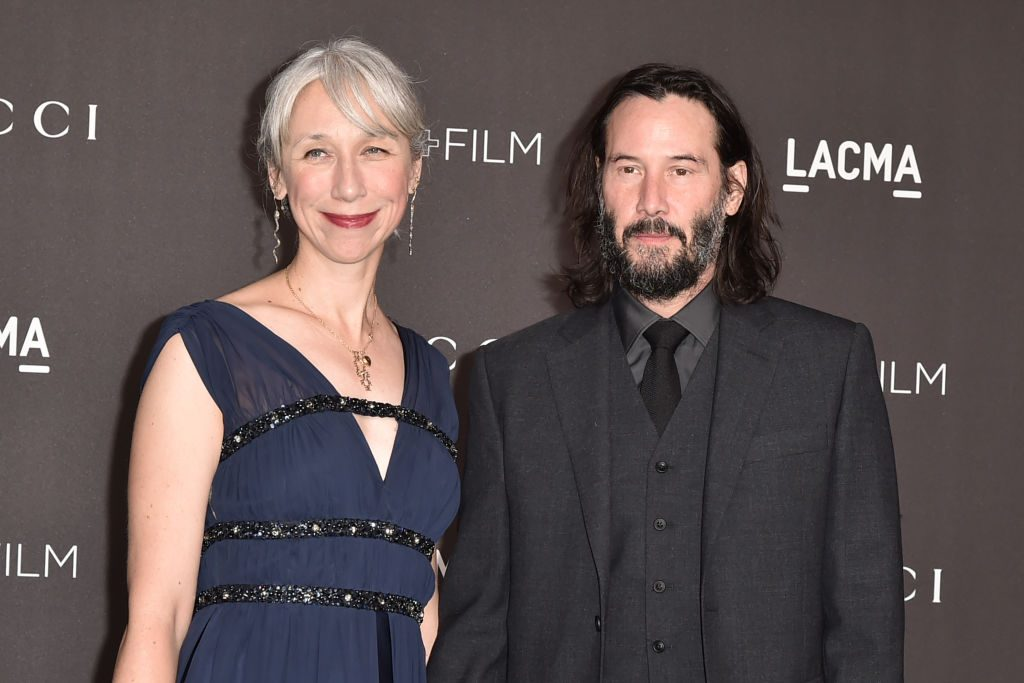 Alexandra Grant and Keanu Reeves attend the 2019 LACMA Art + Film Gala.
