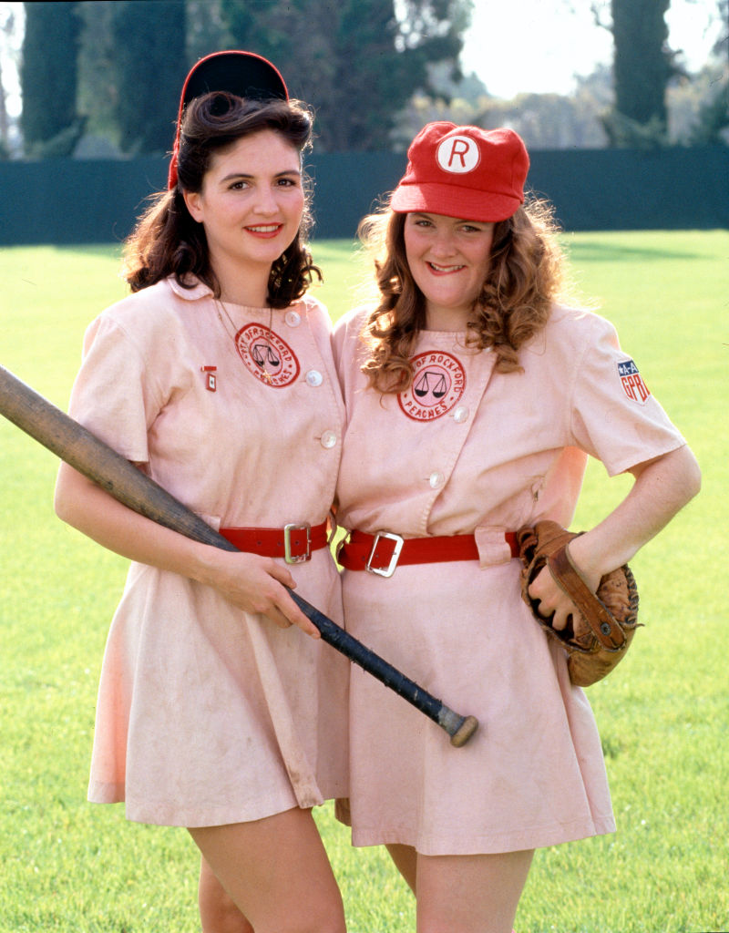 Tracy Reiner (as Betty Horn) and Megan Cavanagh (as Marla Hooch) reprised their role as Rockford Peaches in the short-lived TV series.