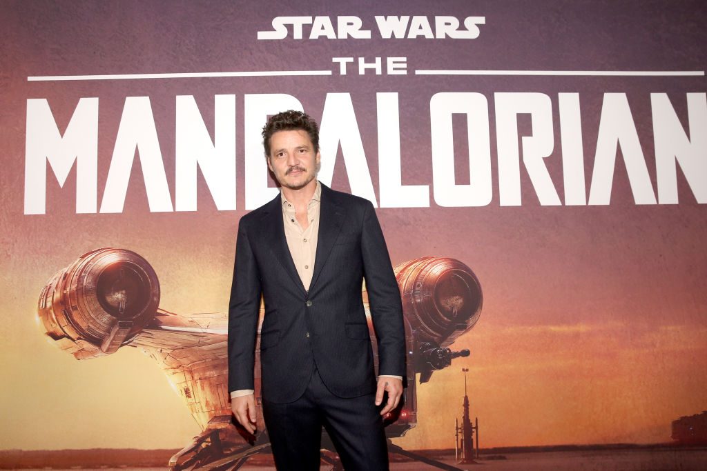 Pedro Pascal, who plays The Mandalorian, at the premiere for the series.