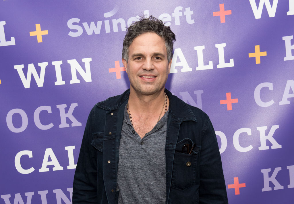 """Mark Ruffalo on the red carpet at Swing Left's """"The Last Weekend"""" Election Rally in NYC."""