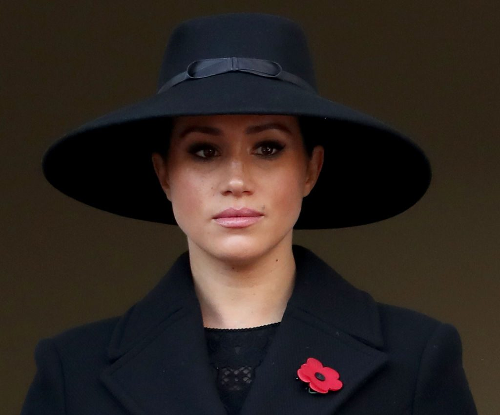 Meghan Markle attends the annual Remembrance Sunday memorial.