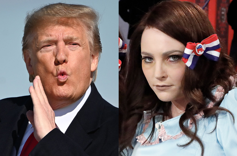 Donald Trump and Meghan McCain