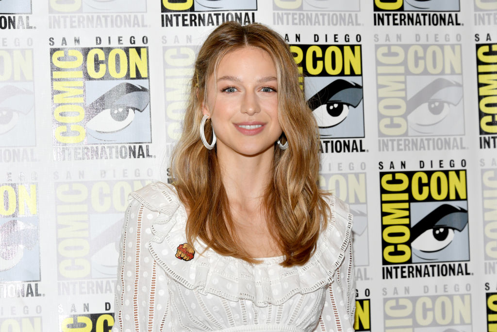 Melissa Benoist at the 'Supergirl' press line at Comic-Con International 2018