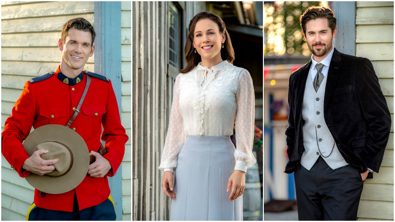 Portraits of Nathan, Elizabeth and Lucas from When Calls the Heart