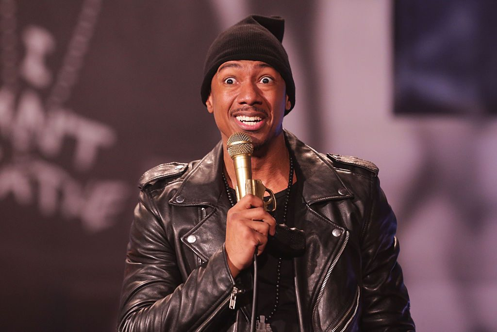 Nick Cannon performs on stage at The Ebony Repertory Theatre.