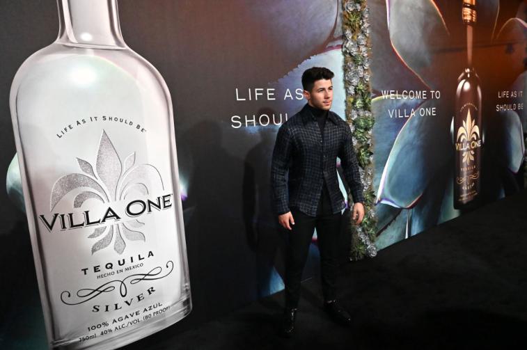 Nick Jonas with Villa One Tequila