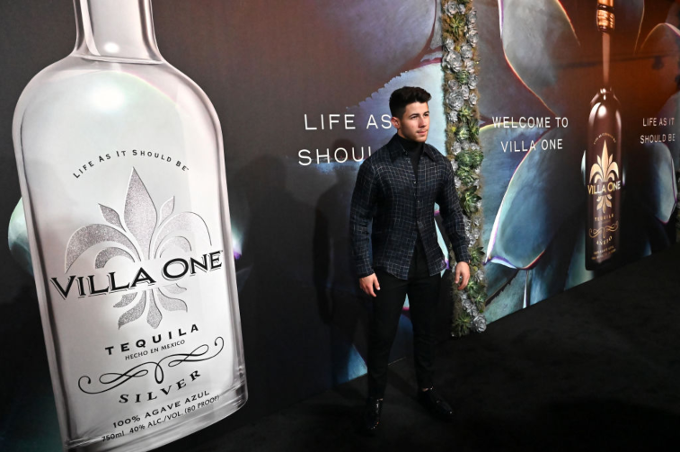 Nick Jonas with Villa One Tequila