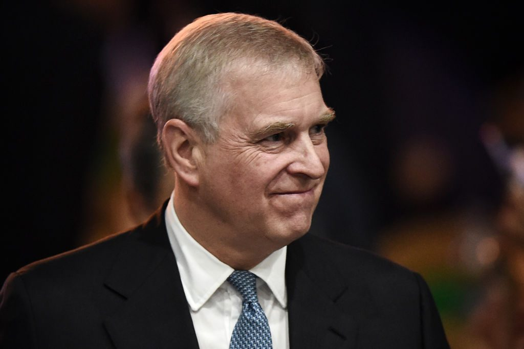 Prince Andrew speaks at a summit.