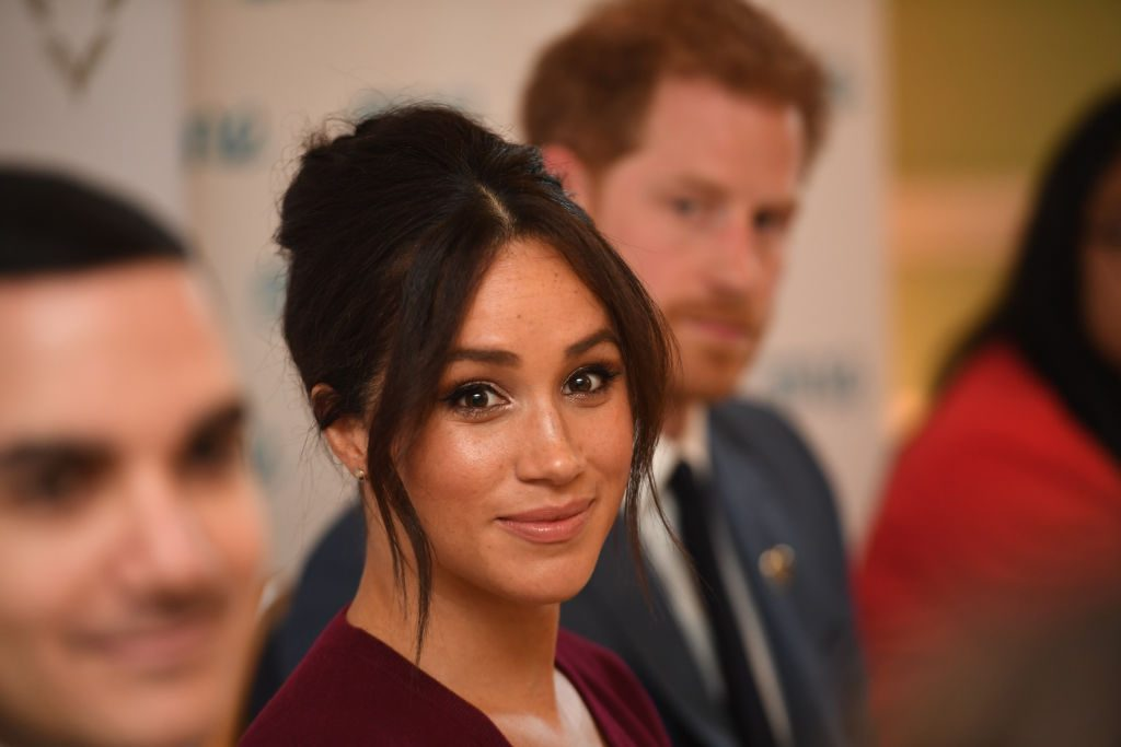 Meghan Markle attends a roundtable discussion on gender equality.