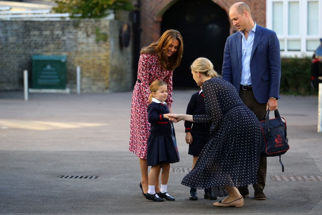 The Duke and Duchess of Cambridge with their daughter Charlotte