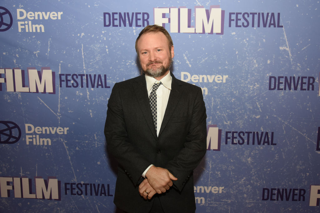 Rian Johnson on the red carpet as the 2019 John Cassavetes Award recipient.