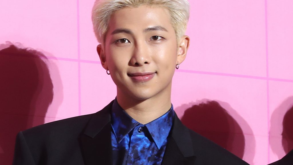 "RM of BTS at ""Map of the Soul Persona"" release press conference"