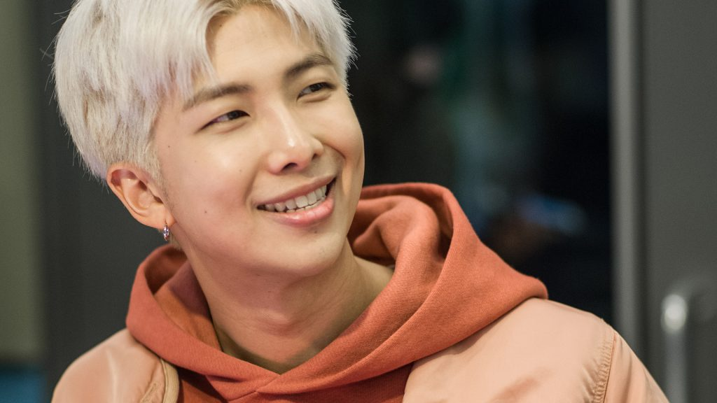 RM of BTS visits The Elvis Duran Z100 Morning Show at Z100 Studio on April 12, 2019 in New York City