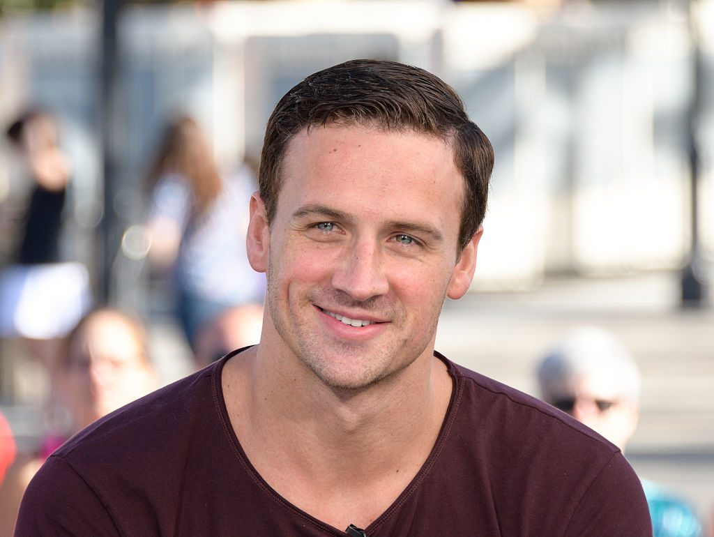 "Ryan Lochte visits ""Extra"" at Universal Studios Hollywood."