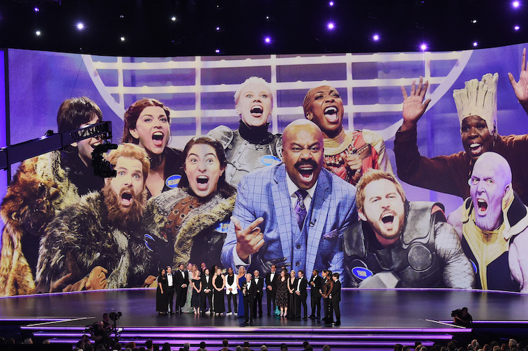 Saturday Night Live cast onstage