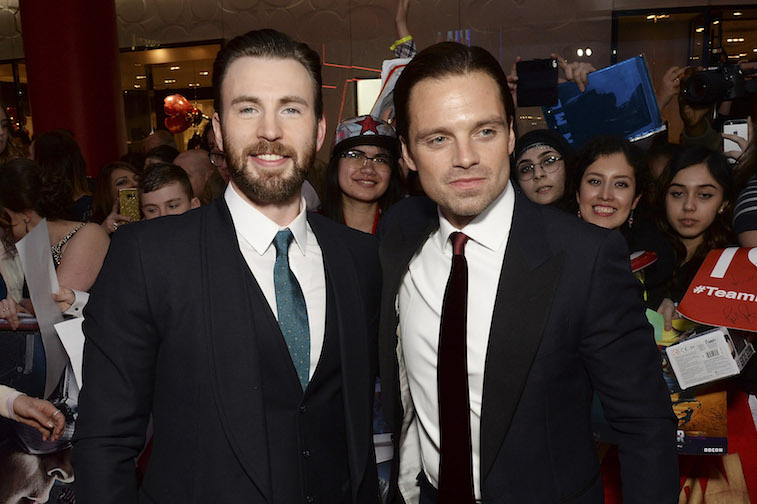 Chris Evans and Sebastian Stan on the red carpet