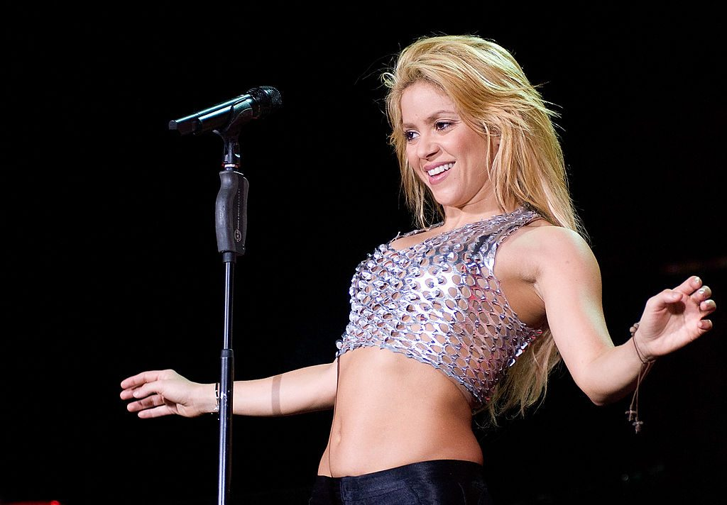 Shakira performs in concert at the Lluis Campanys Olympic Stadium on May 29, 2011 in Barcelona, Spain.